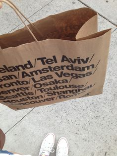 #AmericanApparel shopping bag-- Saw one in NYC. So cool.