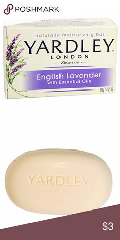 English Lavender Soap A naturally moisturizing soap! Luxurious bar soaps use the freshest ingredients and fragrances inspired by nature combined with English Lavender, essential oils, and  moisture-rich ingredients for a calming, cleansing experience. Yardley London Other