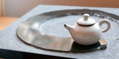 I love this tea tray. Harmony Stone Tea Tray from Red Blossom Tea Company, with one of their celadon teapots.