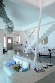 summer house in Paros Cyclades Greece  by inteiror designer Alexandros Logodotis