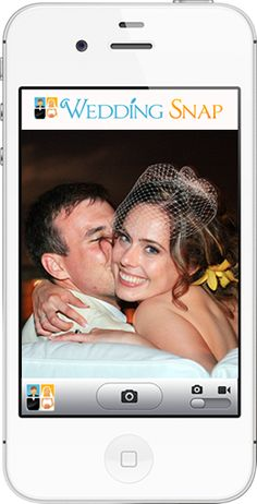 Guests download the photo app and you get all the pictures they take at your wedding.