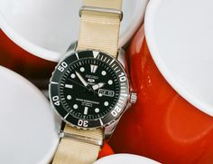 """GEAR PATROL: Time Is Money - The Seiko 5 """"Sea Urchin"""" and Diving Headfirst into Mechanical Watches"""
