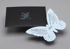 Invitation to the Mulberry Autumn Winter 2013 show at London Fashion Week.