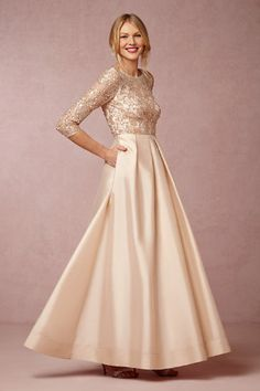 Mother of the Bride Dresses with Sleeves. Dresses with sleeves for mothers of the bride and mothers of the groom from BHLDN's latest dress collection for wedding attire for mothers.