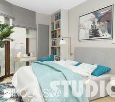 delikatne błękity w sypialni - zdjęcie od MIKOŁAJSKAstudio