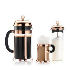 Cappuccino Coffee Maker, Percolator Coffee Maker, Coffee Canister, Canister Sets, Coffee Set, Canisters, Coffee Cups, Black And Copper Kitchen, Lunchbox Design