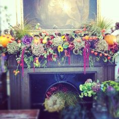 fall mantle arrangement photography - photo #38