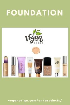 Vegan and cruelty free beauty and foundation products