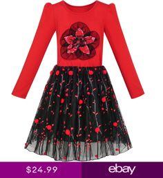 969956ee7e9b9 Sunny Fashion Robe Fille A-ligne Noël Arbre Noël Sequin Pétillant Vacances  Partie 3-10 ans  Teinture Jacquard