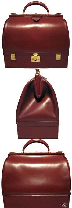 Vintage Hermes Rouge Sac Mallette Bag