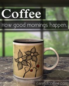 How good mornings happen. #coffee