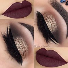 Double Eyeliner + Matte Plum Lips