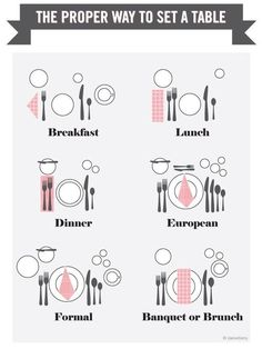 The proper way to set a table  for future references Dinner Party 101  How To Set A Table Without Being Stuffy  . Proper Table Setting Pictures. Home Design Ideas