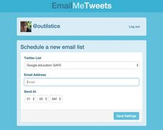 EmailMeTweets. Créer des alertes par mail de vos listes Twitter
