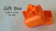 A tutorial on how to fold a gift box with a cross on the lid.  The lid is my own design but the box is folded the same way as the traditional Masu box.