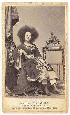 CDV of Zalumma Agra Barnum Museum CIRCASSIAN Beauty CA 1864   eBay