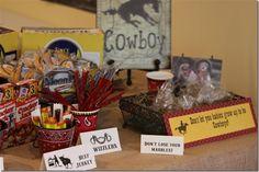 Vintage Cowboy Party  Snak Signs  CUTE !!!