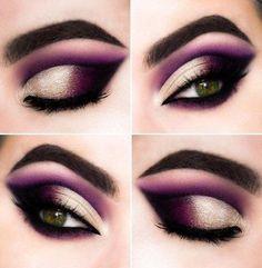 Dramatic Eye Makeup, Purple Eye Makeup, Makeup Eye Looks, Colorful Eye Makeup, Eye Makeup Art, Eye Makeup Tips, Makeup Hacks, Smokey Eye Makeup, Makeup Goals