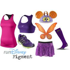 """""""Disney Figment Running Outfit"""" by mamaspartydress on Polyvore"""