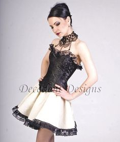Black Silk Overbust CorsetMade to measure Your by decadentdesignz, $175.00