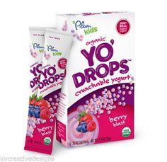 Plum Kids Organic Yo' Drops Berry Blast Crunchable Yogurt 6 Boxes Exp 5/14 NEW