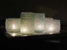 Epsom Salt Luminaries: Some Winter Beauty - Crafts by Amanda