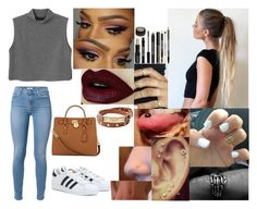 """""""Callie"""" by ciarosalie-loves-jb ❤ liked on Polyvore featuring Monki, adidas, MICHAEL Michael Kors, Lord & Berry and Michael Kors"""