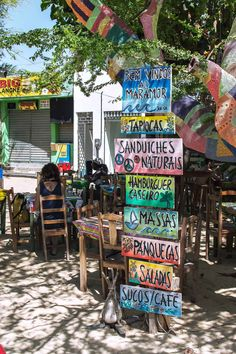 One of the many restaurants in Jericoacoara, Brazil | heneedsfood.com