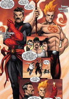 Doctor Strange and Daimon Hellstorm