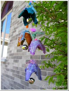 """""""Flower Bells"""" Recycled Windchimes from Egg Cartons"""