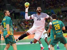 Cedric Sorhaindo of France throws the ball against