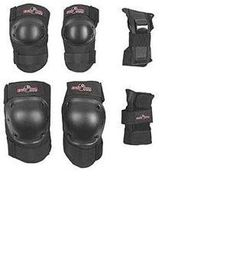 Ader Power Protective Knee, Elbow, Wrist Pads 3 Pairs by Ader Sporting Goods. $19.99. For biking, scooter, skate board, roller skate, inline skate,. mountain bike, snow ski, floor/yard work, and many other uses.. Ader Power Protective Knee pads, Elbow pads, wrist guards. Good for kids, youth, adult, multi purpose for fun or work.. Save 60%!