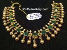 emeralds polki necklace