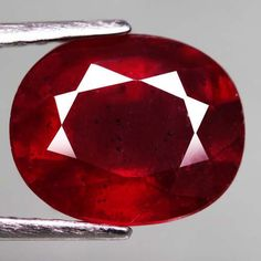 4.83 Ct. Fabulous! Natural Ruby Oval Facet Top Blood Red Madagascar #Gemnatural