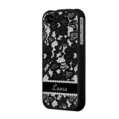 lace & customized name phone cover