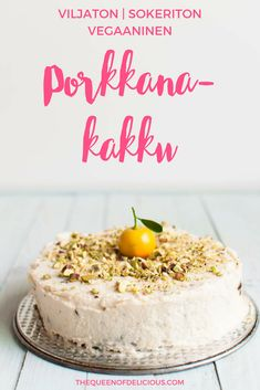 Grain-free Vegan Carrot Cake - The Queen of Delicious Healthy Cat Treats, Healthy Cake, Healthy Cookies, Healthy Baking, Vegan Baking, Healthy Snacks, Paleo Carrot Cake, Vegan Cake, Sugar Free Baking