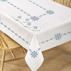Village Linens™ Majestic Table Ensemble Stamped Cross-Stitch
