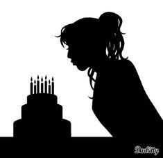 lucy silhouette | Un anniversaire, c'est toujours une occasion de plus pour manger un  Note: I see seven candles, seven year old's normally don't have boobs. :-)