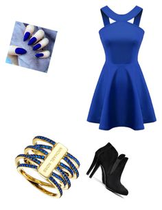 """Blue"" by keiabeia ❤ liked on Polyvore featuring Chicnova Fashion and Michael Kors"