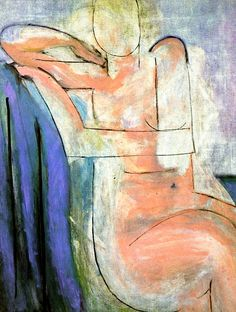 Seated Pink Nude by Henri Matisse - 1935-1936