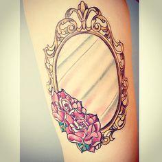 26  Girly Mirror Tattoos