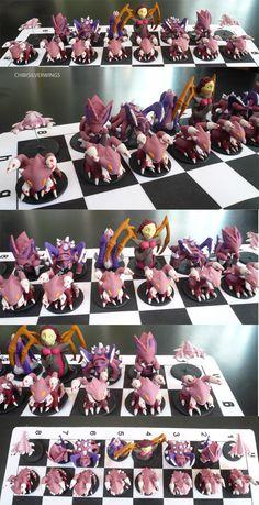 Zerg Chess Set Full by ChibiSilverWings on DeviantArt