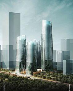 Chongqing Business Center Proposal santiago calatrava - Buscar con Google