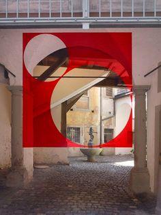Felice Varini installation2