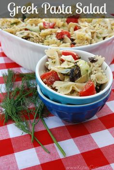 Greek Pasta Salad - Katie's Cucina | Katie's Cucina  Yummmm!