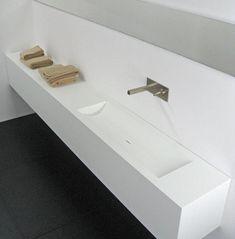 lang corian badkamermeubel