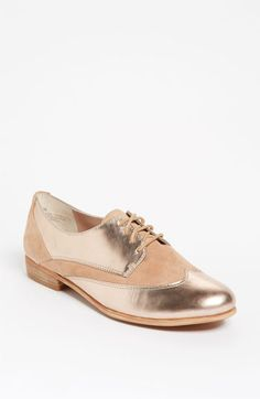 Metallic Rose Gold Oxford is the perfect mix of boy meeys girl  Hinge® 'Fraser' Oxford available at Nordstrom