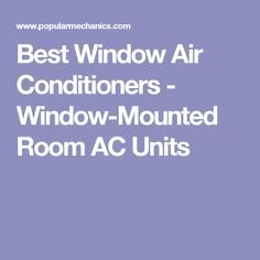 Best Window Air Cond