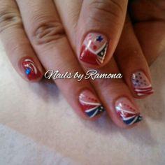 4th Of July Nails, Fourth Of July, Painted Toe Nails, Patriotic Nails, Nail Tip Designs, Nail Tips, Nail Ideas, Holiday Nail Art, Art Nails