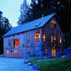 Bunkhouse ranch cabin ~ a reconstructed barn is the bunkhouse, an industrial shed serves as a cookhouse for eating and gathering, and a nearby sauna acts as a bathhouse and anchors a mini-campground for visiting family and friends.